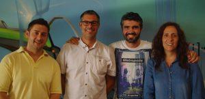 Equipo del departament de Joventut de l'Ajuntament d'Alaquàs: Juan Granados, Francesc Guillem, Jose Angel Poveda y Mar López de la Nieta.